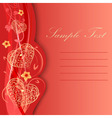 Valentine day card with hearts and flowers vector image