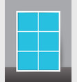 vertical collage layout template frames for photo vector image