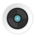 vinyl record icon circle vector image vector image