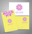 wellness logo vector image vector image