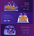 winter ski resort horizontal banners vector image