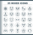 zoology icons set collection of fish trunked vector image vector image