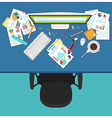 Business manager workplace vector image