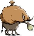 donkey and bag vector image