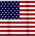 a waving flag of the USA vector image vector image