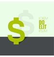 Abstract background with dollar vector image vector image