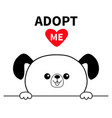 adopt me dont buy dog face head hands paw holding vector image vector image