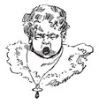 baby crying face in this picture vintage engraving