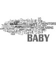 baby monitors for deaf people text word cloud vector image vector image