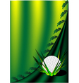 background with a golf ball vector image vector image