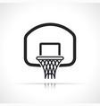 basketball hoop backboard ring icon