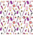 Beauty and care cosmetics purple and pink white vector image