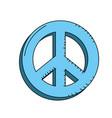 beauty hippie emblem symbol design vector image vector image