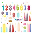 birthday cake candles celebration decoration vector image
