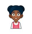 black african american or hindu girl avatar vector image