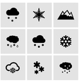 black snow icon set vector image vector image