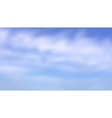 blurred clouds sky vector image