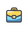 briefcase case for documents icon cartoon vector image