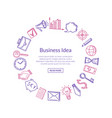 business icons in circle vector image vector image