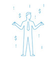 businessman standing relax on mediation linear vector image vector image