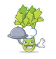 chef celery mascot cartoon style vector image vector image
