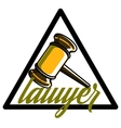 Color vintage lawyer emblem vector image