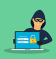 concept of hacking vector image vector image