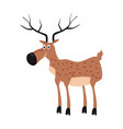 cute deer forest animal suitable for books vector image