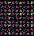 cute halloween pattern background with pastel colo vector image