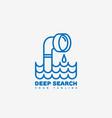 deep search logo vector image