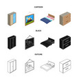 design of bedroom and room logo set of vector image