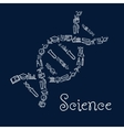 DNA symbol with education and science icons vector image vector image