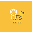 Dog show exhibition event icon vector image vector image