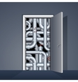 Door to Boiler Room vector image vector image