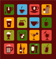 drinks and beverages icons 38 vector image vector image