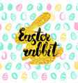 easter rabbit handwritten card vector image vector image