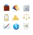 finance color icon set vector image