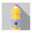 flat sunflower oil bottle vector image