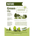 green nature and eco environment poster vector image vector image