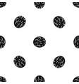 half of nutmeg pattern seamless black vector image vector image