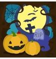 Halloween cartoon card vector image vector image