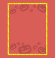halloween theme for frame collection vector image vector image