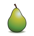 Healthy cartoon pear vector image vector image
