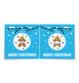 holiday card with gingerbread man and woman vector image