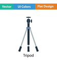 Icon of photo tripod vector image