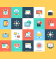 internet technology and security flat icons set vector image vector image