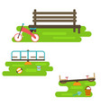 kids playground elements vector image vector image
