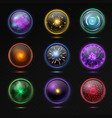 magical crystal orbs glowing energy sphere and vector image vector image