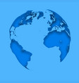 map planet earth on a blue background abstract vector image