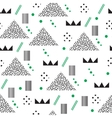 Minimalist pattern with geometric shapes Modern vector image vector image